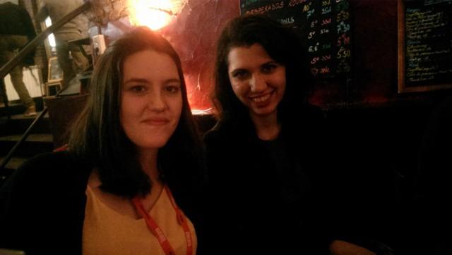 Laura Fontaine, à gauche et Ralitsa Assenova, membre du Jury Jeune elle-aussi.